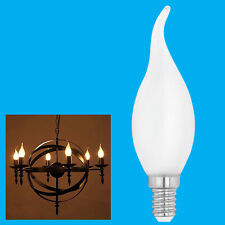 2x 25W Frosted Bent Tip Candle Dimmable Light Bulb SES E14 Edison Screw Lamp