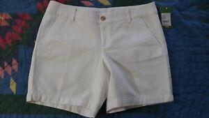 "NWT Lilly Pulitzer Jayne Shorts Resort White Size 12 / 33"" waist"