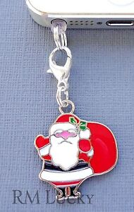 Santa Claus cell phone Charm Anti Dust proof Plug ear cap jack C61