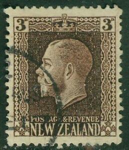New Zealand. 1915. GV Recess. 3d. Chocolate. U.