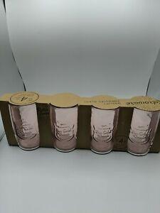 Pink Set If 4 High Ball Glasses 20 oz Home Essentials