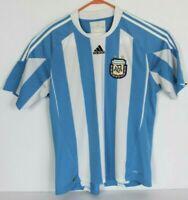 Adidas Mens M Argentine Football Association Soccer Jersey Blue Striped Sewn