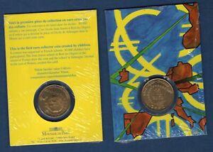 1/4 Euro 2002 Monnaie de Paris 1er pièce en euro créée par des enfants
