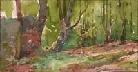 MARCUS ADAMS Watercolour Painting BURNHAM BEECHES LANDSCAPE c1930 IMPRESSIONIST