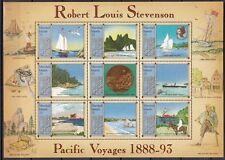 MARSHALL-INSELN, 1988 Robert Louis Stevenson 176-84 Kleinbogen **, (23392)