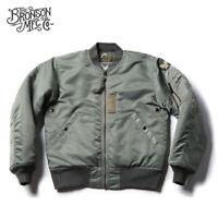Bronson Repro USAF 1955 MA-1 Flight Jacket Winter Military Bomber Cotton Coat