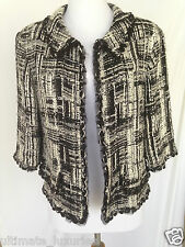 CHANEL TOP ICONIC CC BLACK WHITE SILVER RUNWAY DRESS TOP JACKET BLAZER GORGEOUS