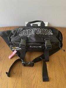 Supreme FW19 Waterproof Cordura Nylon Waist Bag - Black