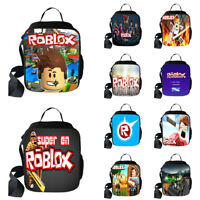 Kids Boys Girl Roblox Insulated Lunch Snack Box School Travel Picnic Bag Food
