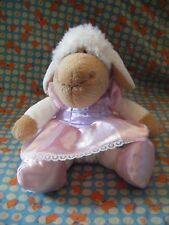 "Nici Lamb Sheep Soft Toy In Pink Dress 11"" approx VGC"