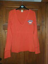 Hollister Orange Long Sleeved T Shirt Size Large Worn Once