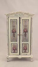 Dollhouse Miniature Shabby Chic Wardrobe Cream Off White 1:12 Armoire