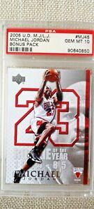 2005 U.D M.J Michael Jordan Bonus Pack MJ 45 PSA10