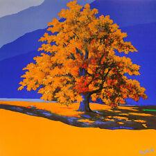 Robin de la dorada árbol póster son impresiones artísticas imagen 70x70cm-envío gratuito