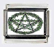 Wicca Vine Pentagram photo 9mm ITALIAN Charm for nomination link style bracelets