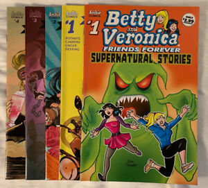 Betty and Veronica Supernatural Stories #1 Archie Comics+ Vixens #1, 2, 3 & 4