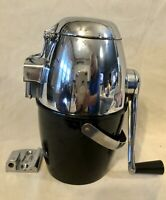 VINTAGE RIVAL ICE-O-MAT ICE CRUSHER   BL.  & CHROME  WITH MOUNTING HARDWARE