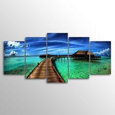 Without Frame Decor Canvas 5 Panels Canvas Sea Landscape  Wall Art