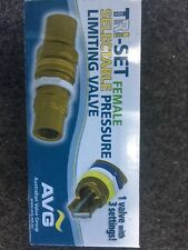 NEW AVG TRI- SET Selectable Pressure Limiting Valve PLV-15F-TRISET 15mm FxF