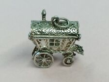 VINTAGE OPENING STERLING SILVER GYPSY CARAVAN CHARM BY CHIM 1960