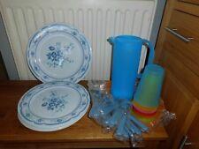 Great Picnic Set Plates, Tray, Jug & Beakers  BNIB