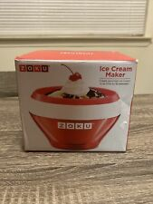 New! Zoku Stainless Steel Ice Cream Maker In Red - BPA Free