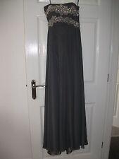 gino cerruti charcoal silver grey evening dress size xs 6-8 prom dress