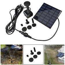 Quadrat 1.2W Solarpumpe Wasserspiel Springbrunnen Teichpumpe Pumpe Teich Brunnen