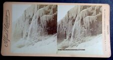1890'S STEREOVIEW THE FROZEN FALLS NIAGARA FALLS NY BY ALFRED S CAMPBELL
