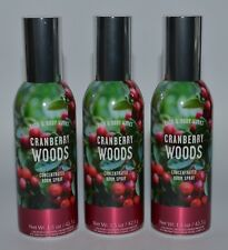 3 BATH & BODY WORKS CRANBERRY WOODS CONCENTRATED ROOM SPRAY MIST SPRAY PERFUME