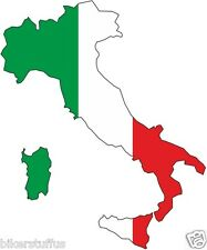 ITALY SILHOUETTE BUMPER DECAL MAP FLAG TOOL BOX STICKER LAPTOP STICKER
