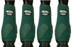 WEAVER PRODIGY PERFORMANCE ATHLETIC HORSE SPORT BOOTS 4 PACK Hunter Green M