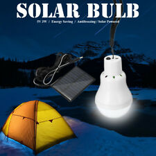 Portable Solar Panel Power LED Light Bulb Lamp for Outdoor Camp Tent Fishing