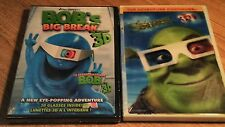 Shrek 3D / B.O.B.s Big Break (DVD, 2010, Canadian French) incl. 4 -- 3 D Glasses