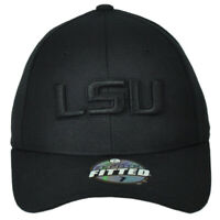 NCAA Zephyr Louisiana Tigers LSU Black Curved Bill Fitted Size Hat Cap