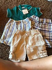 Janie and Jack 6-12 months boys 3 Shorts One Shirt New