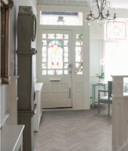LVT Click Herringbone/Parquet Washed Grey Oak Flooring £46.98m²
