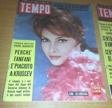 TEMPO #  33 - 19 AGOSTO 1961 - GINA LOLLOBRIGIDA-GERMAN TITOV