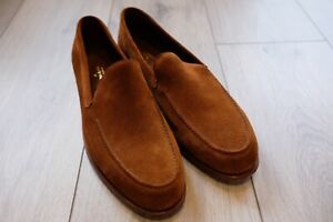 John Lobb Suede Loafer Shoes UK 7.5 US 8.5 NIB