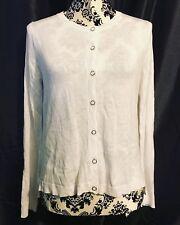 BNWT Womens Mango Thin Cardigan Size L White