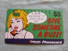 GIVE SOMEONE A BUZZ  $5  AUSTRALIAN PHONECARD
