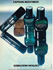 PUBLICITE  1979   MOLYNEUX   eau de toilette CAPTAIN
