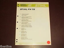 Stihl Hedge Trimmer Pruner Spare Parts List Diagram Manual Book Fh 75 Fh75
