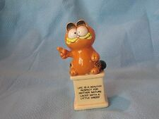Enesco Garfield Philosopher Cat Ceramic Figurine Life Is A Healthy Respect For