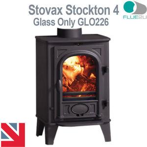 Stovax Stockton 4, Stove Glass GLO226 Direct Replacment Heat Resistant Glass