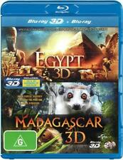 Egypt 3D / Madagascar 3D (2011) (3D Blu-ray/Blu-ray)  - BLU-RAY - NEW Region B