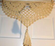 Antique Hand Crocheted window Piece w/Tassel Unique