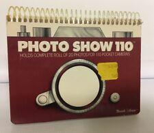 Vintage Photo Show Album Spiral Bound Book 110 Pocket Camera Shots Holds 20