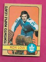 1972-73 OPC # 258 LEAFS RON LOW  HIGH # ERROR ROOKIE VG+ CARD (INV# C2621)