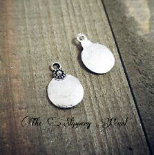 Metal Stamping Blanks Antiqued Silver Blank Circle Charms Hand Stamping Charms